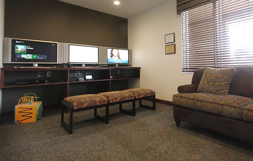 Gaming area in waiting room